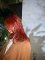 oguma hair /春カラー◎アプリコットオレンジカラー