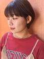 nana × パツっと前髪 × 耳かけショート