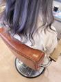 インナーカラーで薄紫