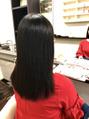 縮毛矯正+毛先の髪質改善トリートメント