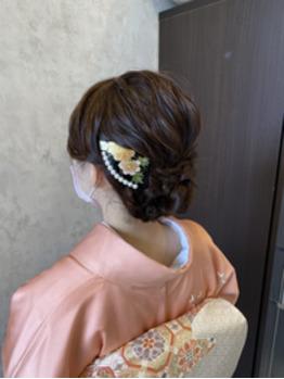 結婚式のお呼ばれヘアセット。川村Asami_20201104_4