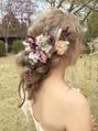 ある方のブライダル前撮り撮影のヘアをやりました◎
