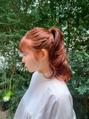 oguma hair /春カラー/フレンチガーリーな春オレンジ