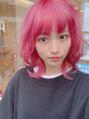 ピンクヘアが可愛いマッシュウルフ☆