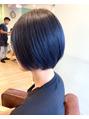 ソース ヘアアトリエ 梅田(Source hair atelier)夏色ネイビーカラー