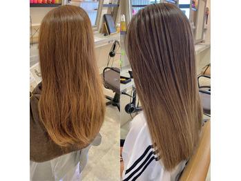 【初めてのバレイヤージュ】下野市 自治医大 シェイプス(Shapes hair design)