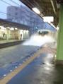 大雨の影響で