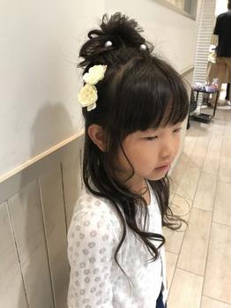 キッズヘアアレンジ☆ 溝の口 美容室_20170705_1
