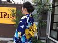 祇園祭には浴衣で…