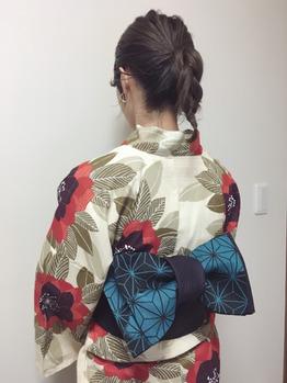 花火大会と浴衣着付け*高田馬場 美容室_20170726_1