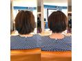 ショートの縮毛矯正とカット