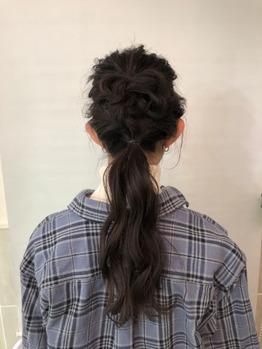 アレンジヘア 編みおろし_20190214_1
