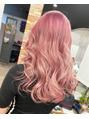 ダブルブリーチでピンクカラー 平塚光輝