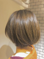 「ヘルシーボブ × グレイジュカラー」bros.THE HAIR