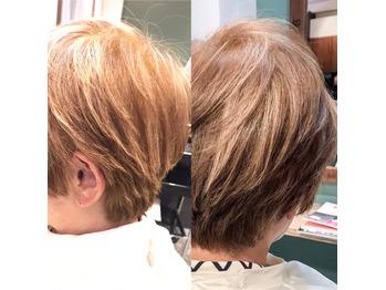 白髪の根元を目立たせないメッシュ【新宿Palio】_20181116_1