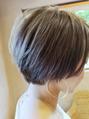 グレーアッシュのショートヘア☆