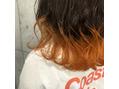 裾カラー × マンゴーオレンジ