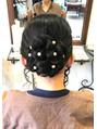 入学式、結婚式、春のヘアアレンジ