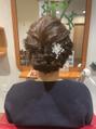 結婚式のお呼ばれヘア~♪