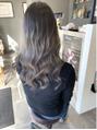 全頭ブリーチの後の伸びた髪は。。