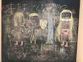 個室の黒板アート