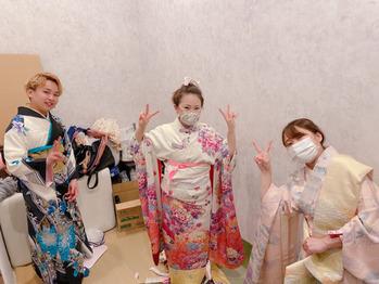 着付けの練習。川村Asami_20200430_2