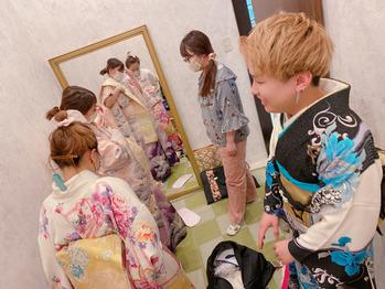 着付けの練習。川村Asami_20200430_1