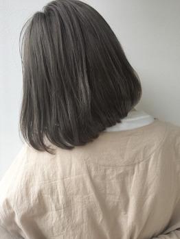 """透明感カラー""""シアーベージュ""""で作る柔らかボブ_20190804_2"""