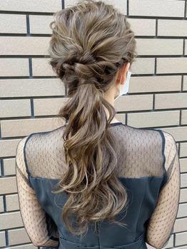 【AUBE HAIR】ゆるっと編みおろしヘア_20210910_1
