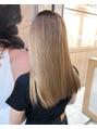 艶を出す縮毛矯正、髪質改善。
