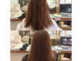 イ○○○カラーで逝った髪を縮毛矯正