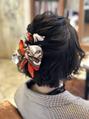 ライブヘアメイク。