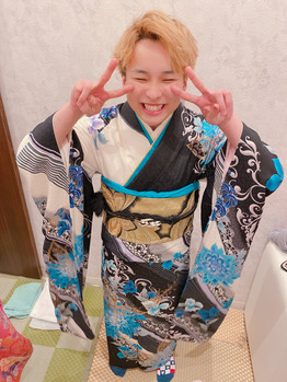 着付けの練習。川村Asami_20200430_3