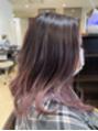 アッシュ アーティスティック スタジオ オブ ヘア(Ash artistic studio of hair)ピンクパープルのバレイヤージュ