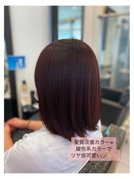 髪質改善×暖色系カラーならウチダにお任せ♪_20210712_1