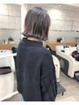 [garden松岡]切りっぱなしなグレージュカラー☆