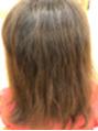 ハイトーンのダメージ毛に縮毛矯正
