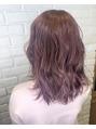 透明感ピンクカラー