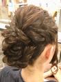 可愛いロープ編みヘアセット☆高田馬場 美容室