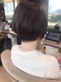 硬い髪・毛量が多い方にも!【前下がりショートボブ】