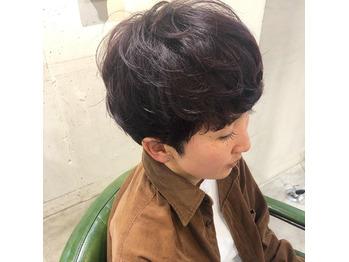 素髪パーマ/パープルカラー/ショートスタイル_20200215_1