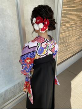 卒業式袴の着付け。川村Asami_20210403_2