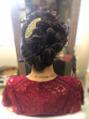 結婚式のヘアセット!