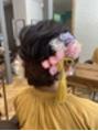 成人式前撮りヘアセット