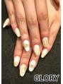 White mat nail