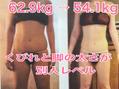 62.9kg→54.1kg くびれと脚の太さが別人レベル!