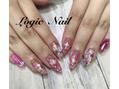 ピンクとシェルのキラキラスカルプ