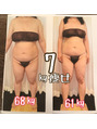 7キロ痩せで、68キロ→61キロ