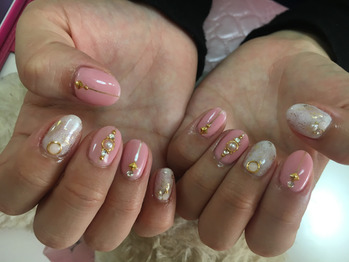 上品ピンクネイル☆_20171010_1