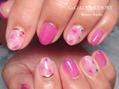 魅惑のピンクパープルネイル♪